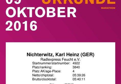 Ich wollte es noch einmal wissen – Finish beim München-Marathon