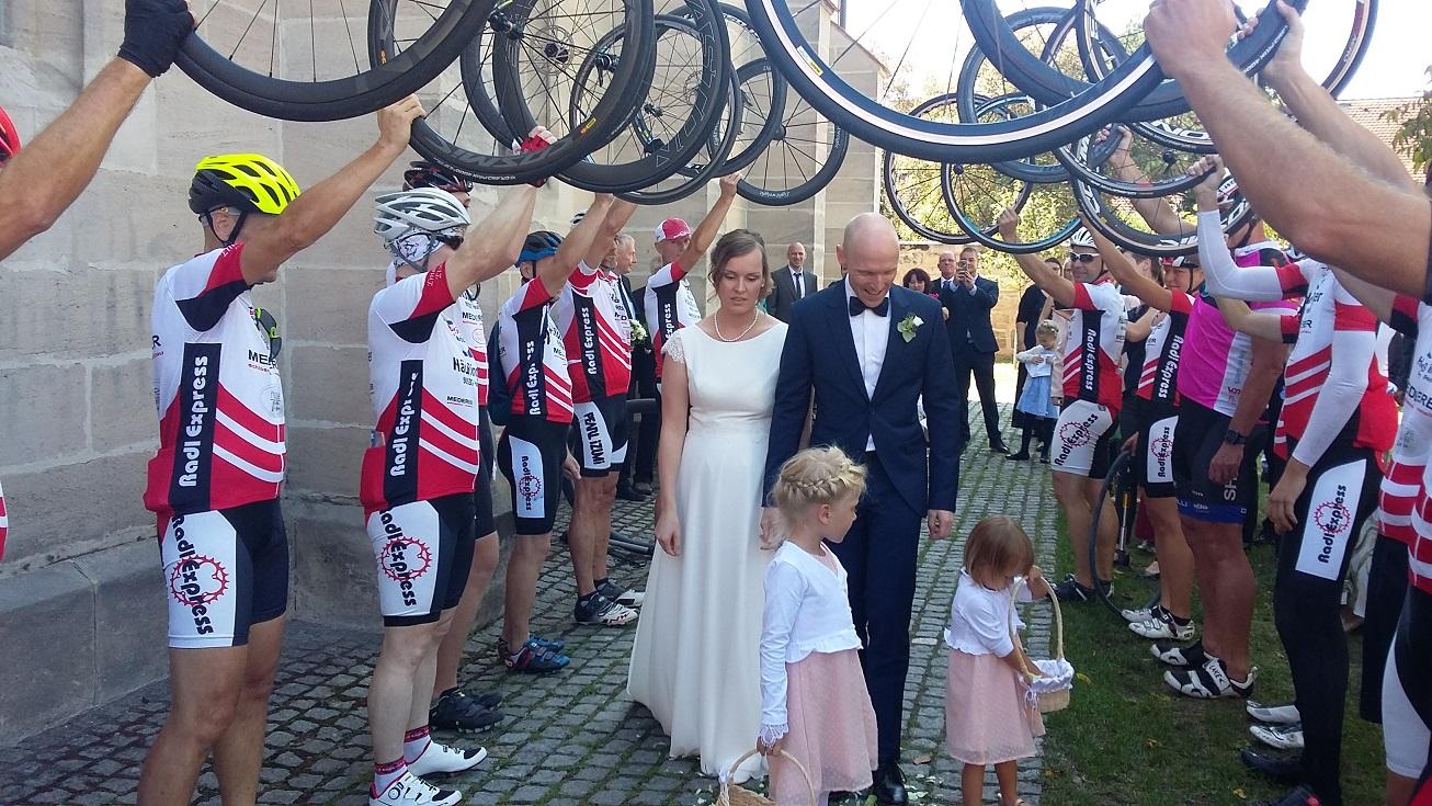 Radlexpress gratuliert zur Hochzeit